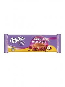 Milka Raisins And Nuts Tablet 270G